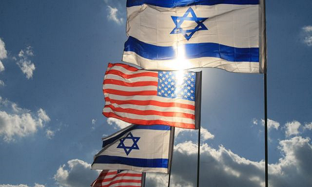 Israeli and US Flags